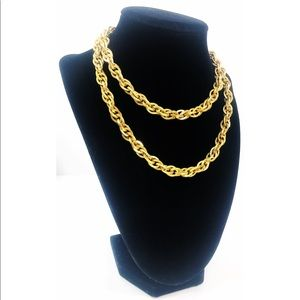 Vintage Sarah Coventry Gold Tone Double Necklace